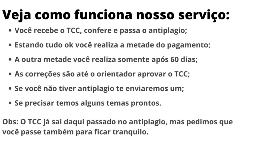 Comprar TCC em Brasília - Pagamento após entrega