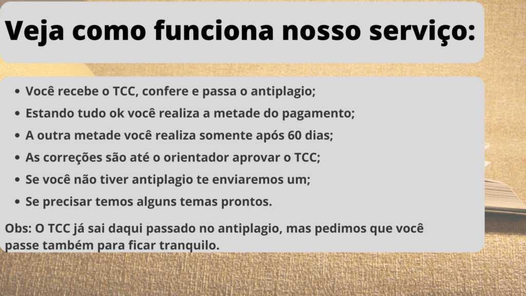 Comprar TCC em Manaus - Pagamento após entrega