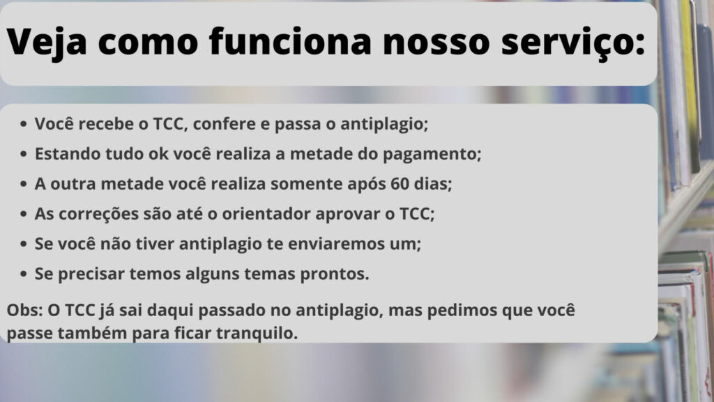 Comprar TCC em Recife - Pagamento após entrega